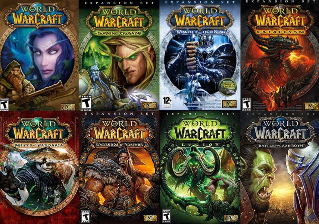 World of Warcraft Expansions list