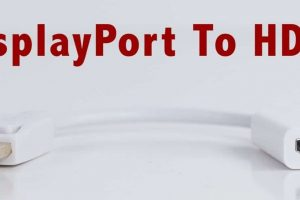 DisplayPort to HDMI Cables Adapter