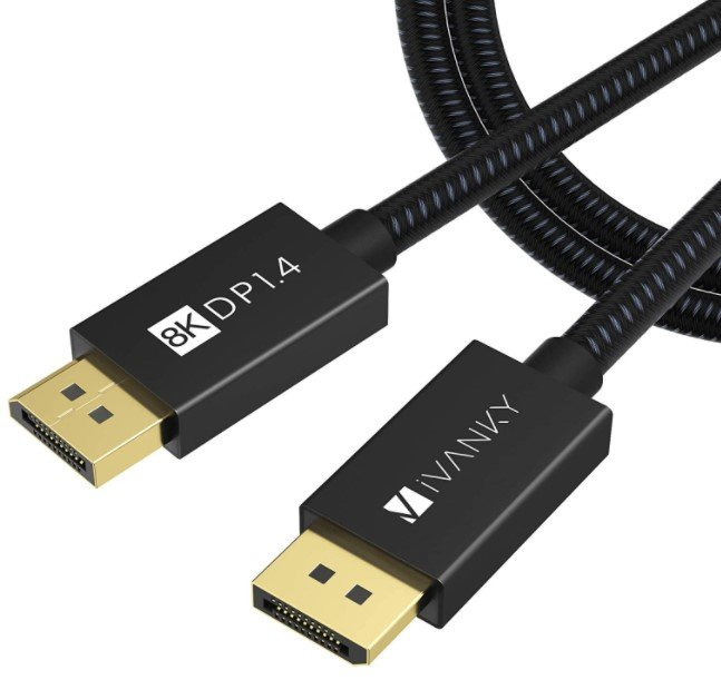 iVANKY DisplayPort 1.4 Cable 6.6ft, Nylon Braided 8K