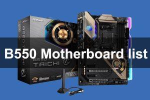 B550 motherboard tier list